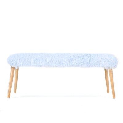 Nieves Upholstered Bench Upholstery: Light Blue