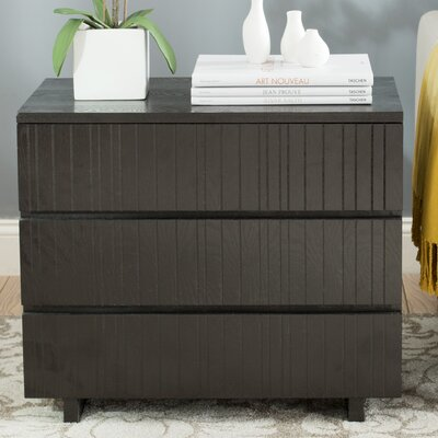 Camarena 3 Drawer Accent Chest Color: Black