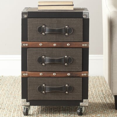 Jemma 3 Drawer Rolling Chest