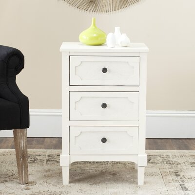 Fredericktown 3 Drawer Accent Chest Color: White