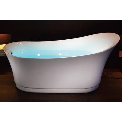 "Free Standing Air Bubble 68.88"" x 32.5"" Bathtub"