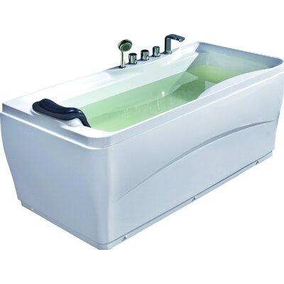 "Acrylic 63"" x 29.5"" Freestanding Soaking Bathtub Drain Location: Left"