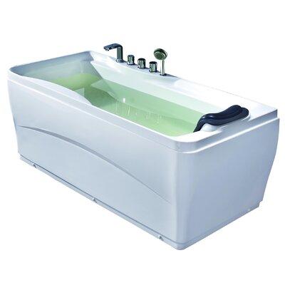 "Acrylic 63"" x 29.5"" Freestanding Soaking Bathtub Drain Location: Right"