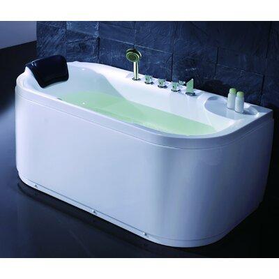 "Acrylic 60"" x 29.5"" Freestanding Soaking Bathtub Drain Location: Left"