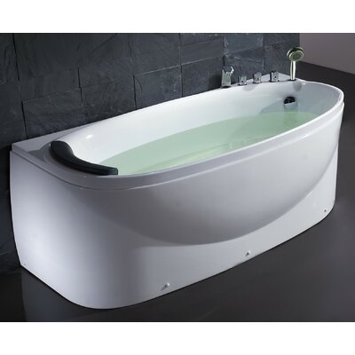 "Acrylic 72"" x 31.5"" Freestanding Soaking Bathtub Drain Location: Right"