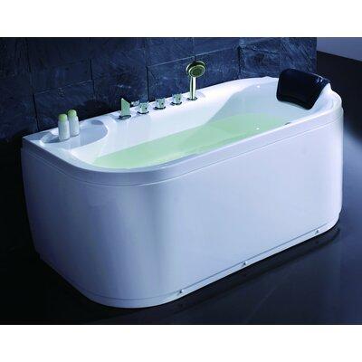 "Acrylic 60"" x 29.5"" Freestanding Soaking Bathtub Drain Location: Right"