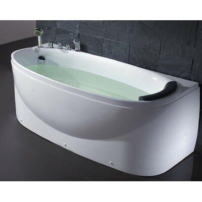 "Acrylic 72"" x 31.5"" Freestanding Soaking Bathtub Drain Location: Left"
