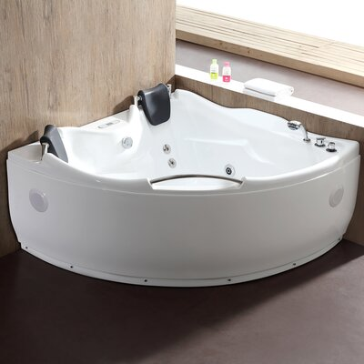 "59.5"" x 59.5"" Corner Whirlpool Bathtub"