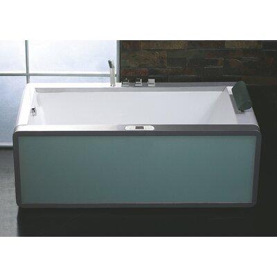 "Rectangular 70.9"" x 35.5"" Freestanding Whirlpool Bathtub Drain Location: Left"