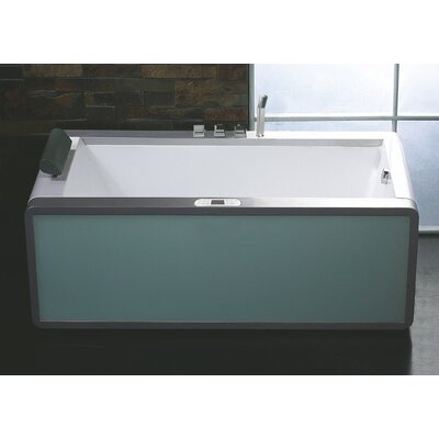 "Rectangular 70.9"" x 35.5"" Freestanding Whirlpool Bathtub Drain Location: Right"