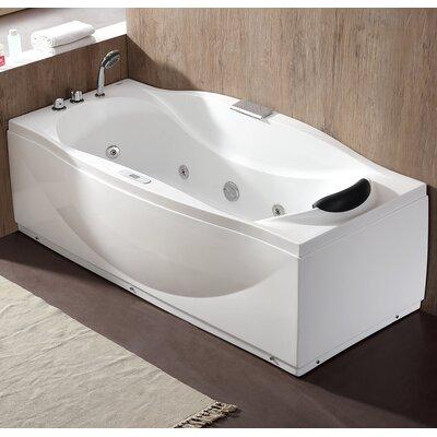 "70.5"" x 31.9"" Freestanding Whirlpool Bathtub Drain Location: Left"