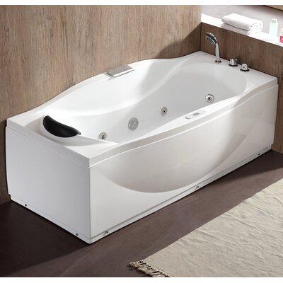 "70.5"" x 31.9"" Freestanding Whirlpool Bathtub Drain Location: Right"