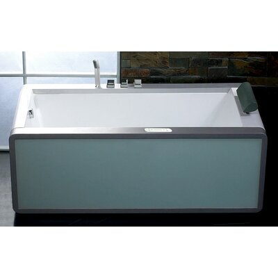 "71"" x 36"" Modern Whirlpool Bathtub Configuration: Left"