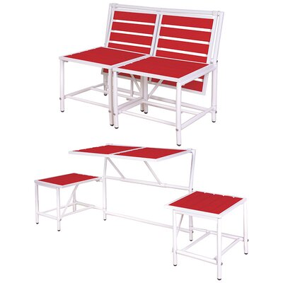 My Balconia Convertible Bench Color: Red