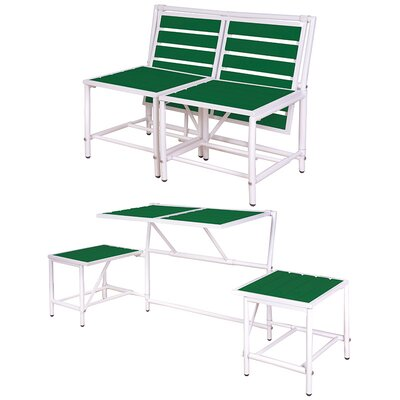 My Balconia Convertible Bench Color: Green