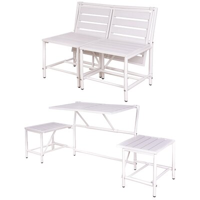 My Balconia Convertible Bench Color: White