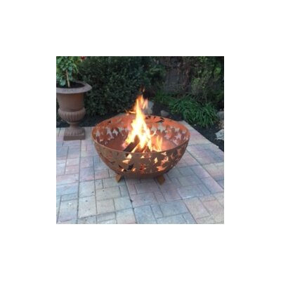 Laser Cut Wild Leaves Steel Wood Fire Pit