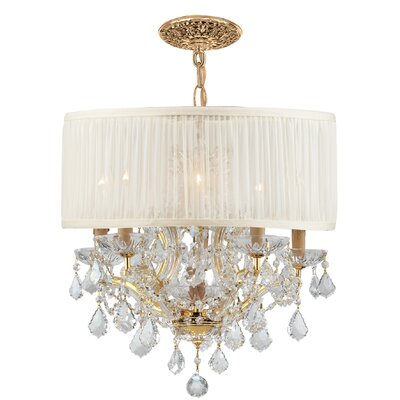 Corrinne Modern 6-Light Chandelier Lamp Shade Color: Antique White
