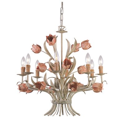 Crystorama Southport 8 Light Candle Chandelier