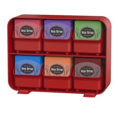 Clutch Tea Bag Holder Color: Red