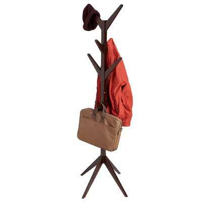 Free Standing 8 Hook Wooden Coat Rack