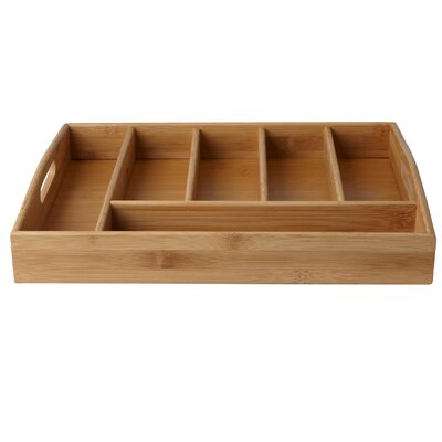 Serve 6 Compartment Bamboo Condiment Storage with Handles