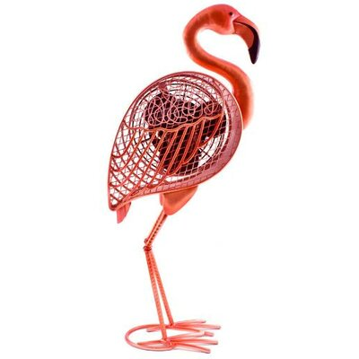 "Hutton Flamingo Figurine 7"" Table Fan"