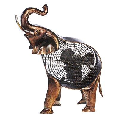 """Morefield Elephant Figurine 7"""" Table Fan"""