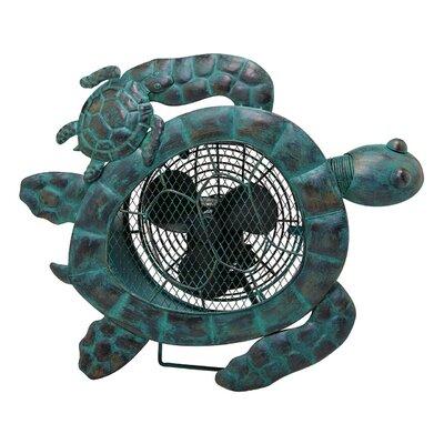"""Kimzey Turtle Figurine 7"""" Table Fan"""