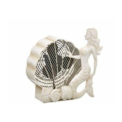 "Haner Mermaid Figurine 7"" Table Fan"