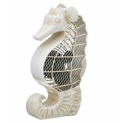 "Haner Seahorse Figurine 4"" Table Fan"