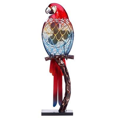 Kincade Parrot Figurine Table Fan