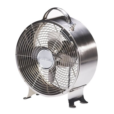 "9"" Table Fan Finish: Stainless"