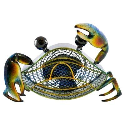 "Demarcus Blue Crab Figurine 7"" Table Fan"