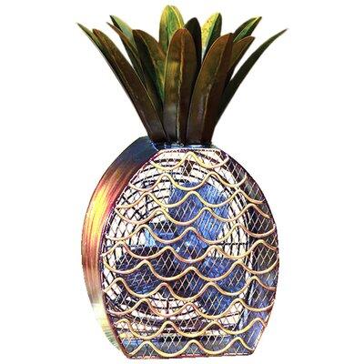 "Hutton Pineapple Figurine 7"" Table Fan"