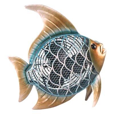 "Hutton Tropical Fish Figurine 7"" Table Fan"