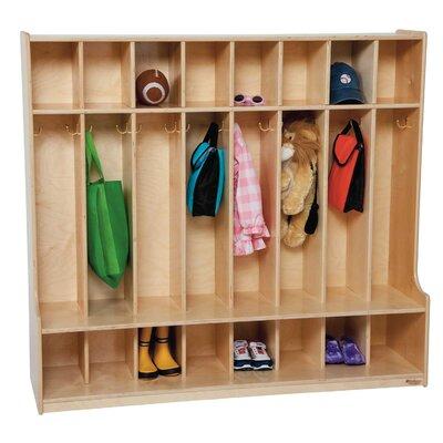 Wood Designs 8-Section Seat Locker
