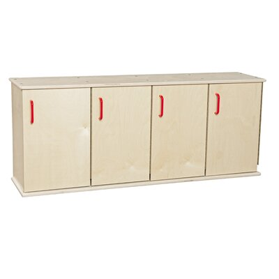 Contender 1 Tier 4 Wide Kids Locker Assembly: Ships Ready to Assemble
