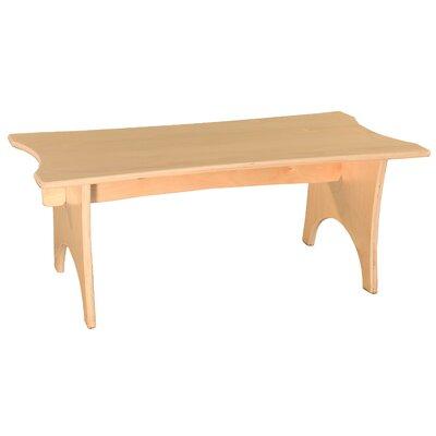 """Donovan Wood Bench Size: 10"""" H x 30"""" W x 15"""" D"""