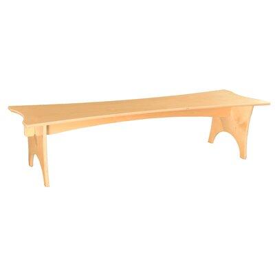 """Donovan Wood Bench Size: 10"""" H x 48"""" W x 15"""" D"""
