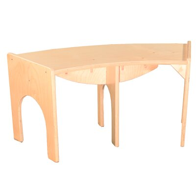 "Burnard Curved Wood Bench Size: 10"" H x 36"" W x 15"" D"