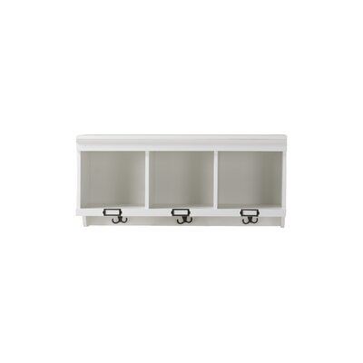 3 Compartment Hanging Shelf Wall Mounted Coat Rack