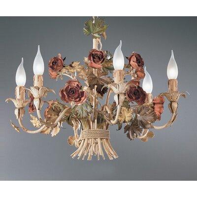 KÖGL Wohnlicht Kronleuchter 6-flammig Roseto