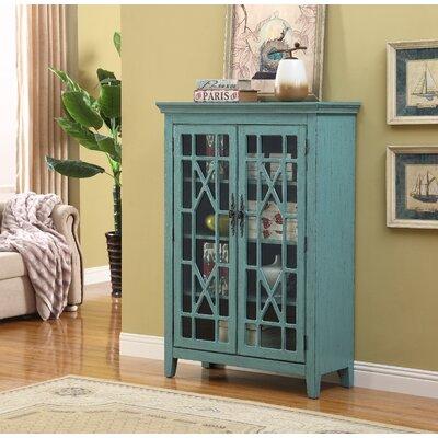 Mauldin 2 Door Accent Cabinet Color: Blue