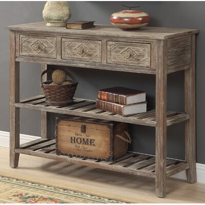 Warne 3 Drawer Console Table