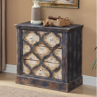 Gennevilliers 3 Drawer Accent Chest