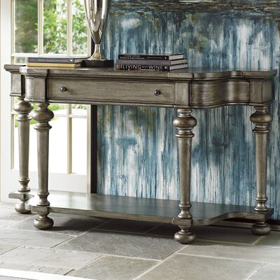Oyster Bay Console Table Color: Pelican Gray