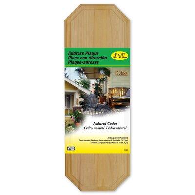 Cedar Wall Address Plaque (Set of 3)