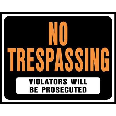 """15"""" x 19"""" Plastic No Trespassing Sign (Set of 5)"""