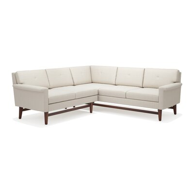 Diggity Corner Sectional Sofa Body Fabric: Klein Charcoal, Leg Color: Espresso, Sectional Orientation: Left Facing